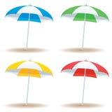 Grundläggande strandparaply Fotografering för Bildbyråer
