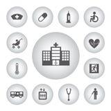 Grundläggande symbol för sjukhus Royaltyfri Bild