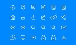 Grundläggande symbol i enkel minimalist enkel linje Royaltyfri Bild