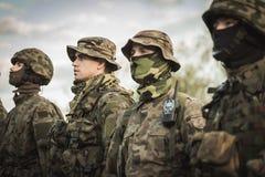 Grundläggande utbildning för armé Arkivbilder
