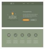 Grundlagendesignschablone für Website und apps Stockbild