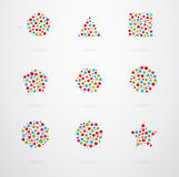 Grundlegende geometrische Form-Vektor-Ikonen Lizenzfreie Stockfotografie