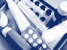 Grundlegende medizinische Ausrüstung Lizenzfreies Stockfoto
