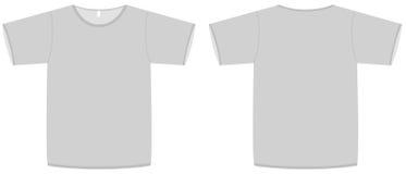 Grundlegende Unisexshirtschablonen-vektorabbildung Lizenzfreies Stockbild