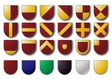 Grundlegende Wappenkundenschilder lizenzfreie abbildung
