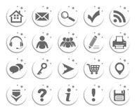 Grundlegende Web-Ikonen Stockbild