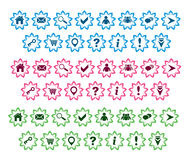 Grundlegende Web-Ikonen eingestellt vektor abbildung