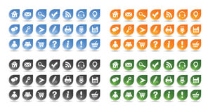 Grundlegende Web-Ikonen stellten #10 ein Lizenzfreie Stockfotografie