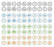 Grundlegende Web-Ikonen stellten #3 ein Stockfotografie