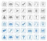 Grundlegende Web-Ikonen stellten #7 ein lizenzfreie abbildung