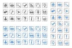 Grundlegende Web-Ikonen stellten #8 ein Stockfotografie