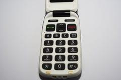 Grundlegender Handy Einfaches, stark vereinfachtes und altmodisches Telefon des leichten Schlages stockfotografie