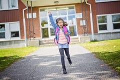 Grundlegender Student, der zurück zur Schule geht Stockfotografie