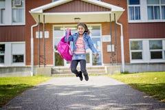 Grundlegender Student, der zurück zur Schule geht Lizenzfreies Stockbild