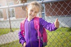 Grundlegender Student, der zurück zur Schule geht Stockbilder