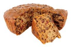 Grundlegender Undecorated Frucht-Kuchen Stockfoto