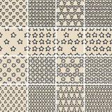 Grundlegendes Gekritzel-nahtloses Muster stellte kein ein 4 in Schwarzweiss Stockfotos