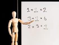 Grundlegendes Mathe stockbild
