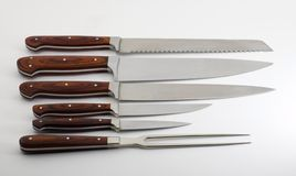 Grundlegendes Messer-Set Stockfotografie
