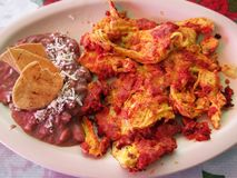 Grundlegendes mexikanisches Frühstück lizenzfreie stockbilder