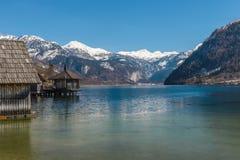 Grundlsee in de winter, Oostenrijk Stock Fotografie