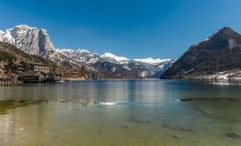 Grundlsee in de winter, Oostenrijk Royalty-vrije Stock Fotografie