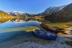 Grundlsee jezioro Obrazy Stock
