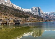 Grundlsee nell'inverno, Austria Fotografia Stock