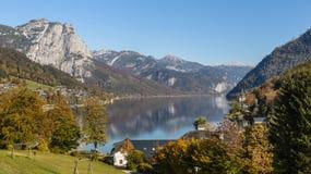 Grundlsee, Stiria, Austria fotografie stock