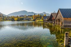 Grundlsee, Stiria, Austria fotografia stock libera da diritti