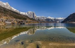 Grundlsee in winter,Austria. Royalty Free Stock Photos