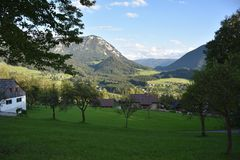 Grundlseedorp in Oostenrijk Royalty-vrije Stock Fotografie