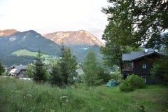 Grundlseedorp in Oostenrijk Stock Afbeelding