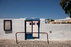 Grundskola för barn mellan 5 och 11 år av Oia, Santorini Arkivbilder