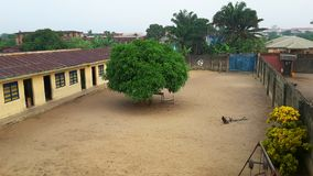 Grundskola för barn mellan 5 och 11 år i Lagos, Nigeria Royaltyfri Foto