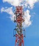 grundstation av den cell- kommunikationen Arkivfoton