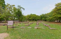 Grundsteine von Okayama-Schloss, Japan Lizenzfreie Stockbilder