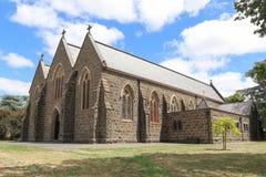 Grundstenen av vår dam av radbandkatolska kyrkan i Kyneton lades på September 20, 1857 Royaltyfria Bilder