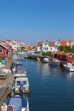 Grundsund un pueblo pesquero viejo Fotografía de archivo libre de regalías