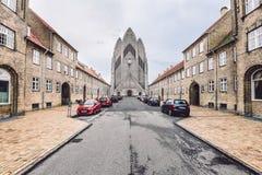 Grundtvig's Church in Copenhagen, Denmark Stock Images