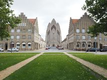 Grundtvig` s Kerk royalty-vrije stock afbeeldingen