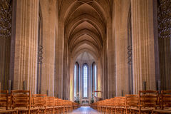 Grundtvigs教会在哥本哈根,丹麦 免版税库存照片