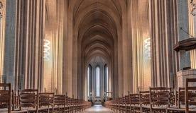 Grundtvigs教会在哥本哈根,丹麦 库存图片