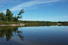 Grundy Lake Provincial Park. Pakeskag Lake in Grundy Lake Provincial Park stock photography