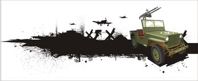 grune dżipa wojskowy projektuje willis Zdjęcie Stock