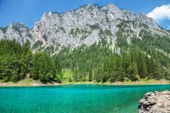 Gruner See with crystal clear water in Austria Royalty Free Stock Image