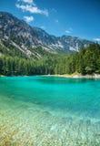 Gruner sehen mit haarscharfem Wasser in Österreich Lizenzfreies Stockfoto