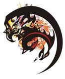 Grungeörnsymbol med en drake Arkivfoton