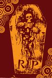 grunge万圣节橙色裂口 免版税库存照片