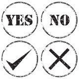 Grunge不加考虑表赞同的人图标集 免版税库存图片